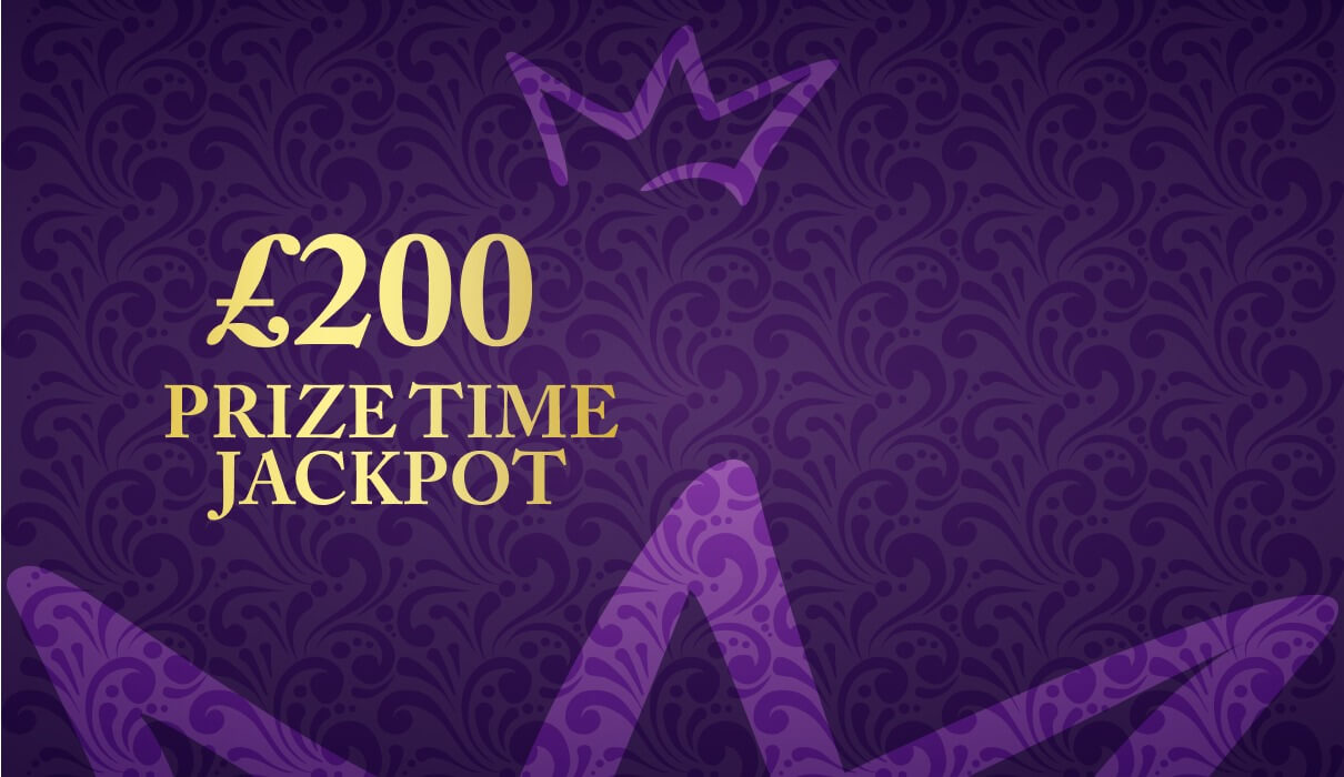 Introducing you to our exclusive £200 Prize Time room. It's a little treat for all of our funded players.