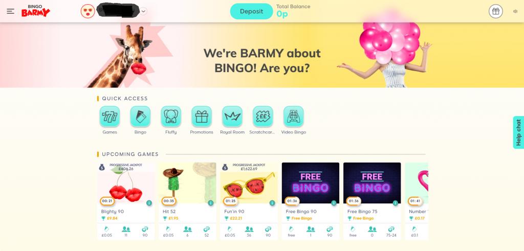Bingo Barmy Lobby - Online Bingo Guide